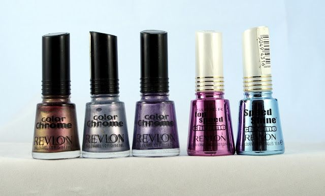 Revlon Color Chromes and Chromes-KhakiChrome, CoolChrome, OrchidChrome, Punch Chrome and Petal Chrome