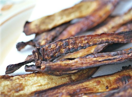 "Eggplant ""Bacon"" (Vegan, Gluten Free, Sugar Free, ACD Friendly)--a great addition to any breakfast! #recipe"