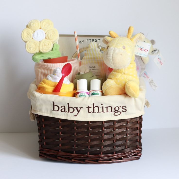 Baby Gifts For Gender Neutral : Gender neutral baby gift basket shower unique