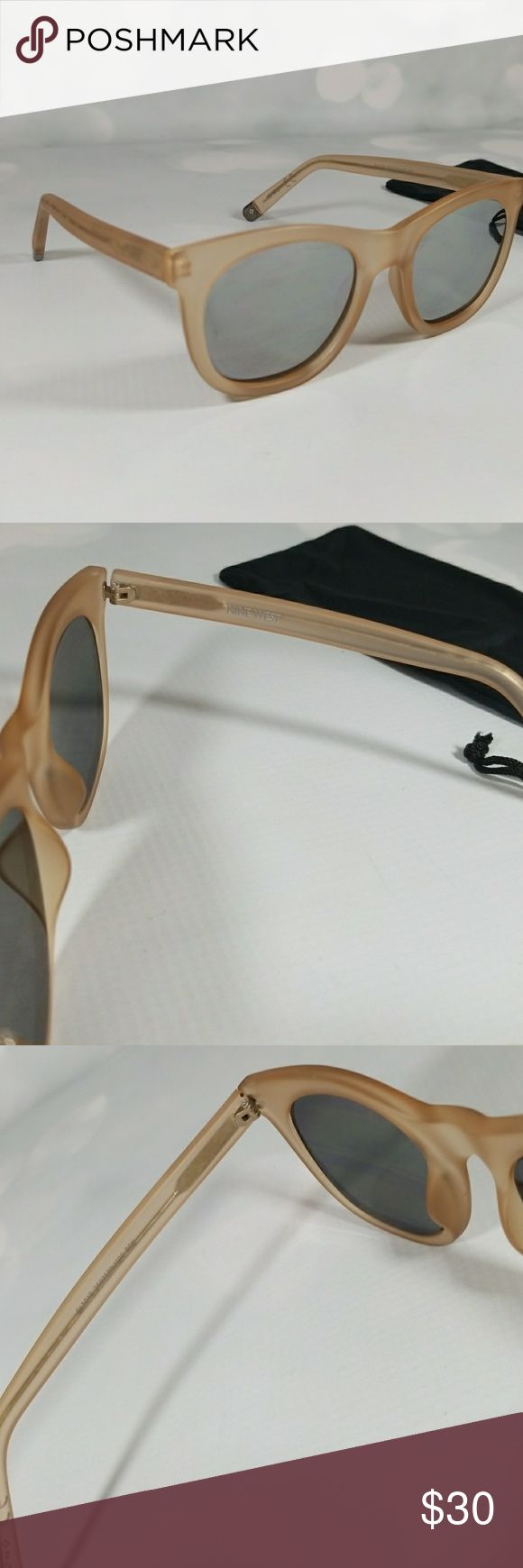 Nine west sunglasses No scratches. Clear beige. Mirror lense. Open to offers please use offer button. Nine West Accessories Sunglasses