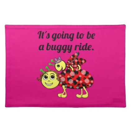 Ladybug Movie Buff Cloth Placemat - kitchen gifts diy ideas decor special unique individual customized