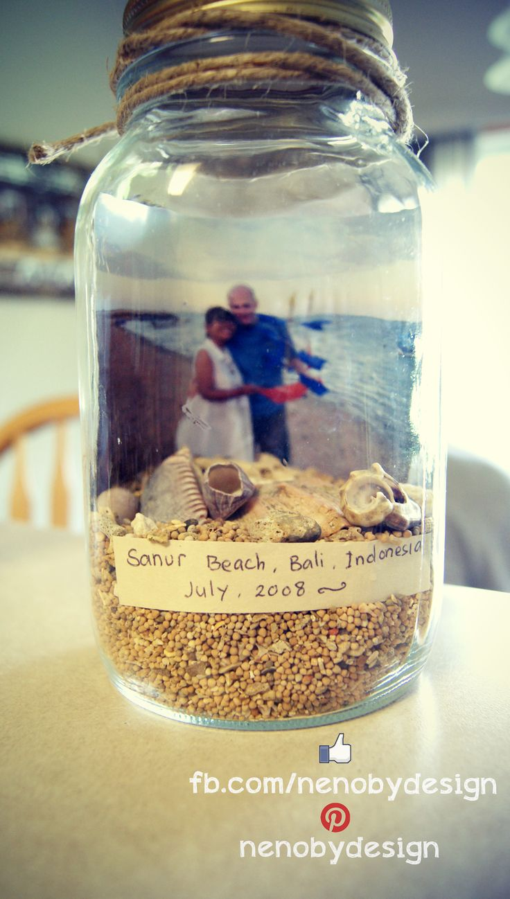 Mason Jar beach Make one for the built ins when we get home!