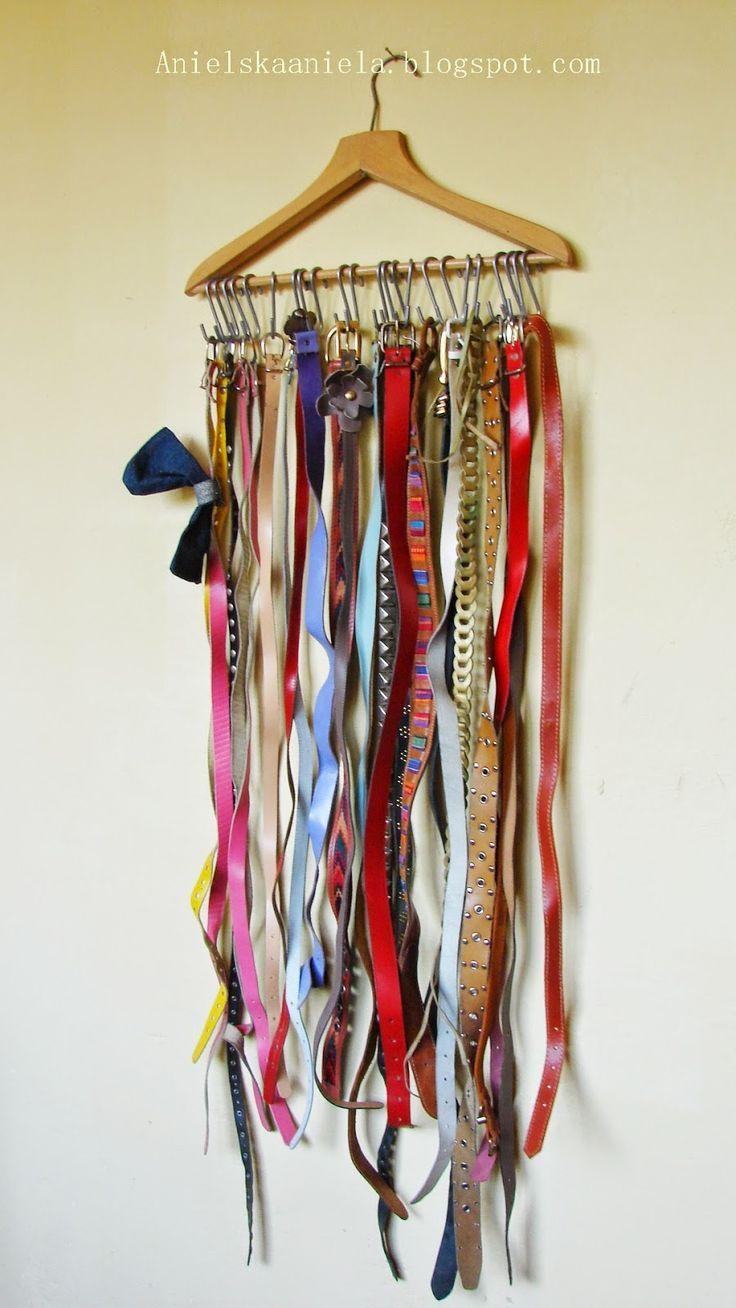 DIY Tutorial belt hanger diy wieszak na paski tutorial