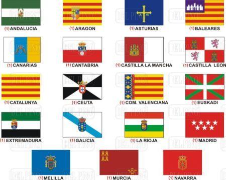 Banderas de Comunidades Autónomas | Flags | Pinterest | Flag, Spain ...