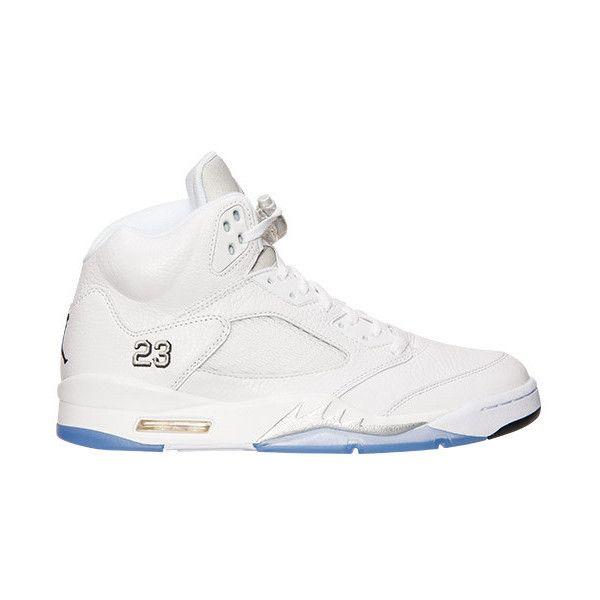 Men's Air Jordan Retro 5 Basketball Shoes ($190) ❤ liked on Polyvore featuring mens, men's shoes, air jordan 5 и jordans
