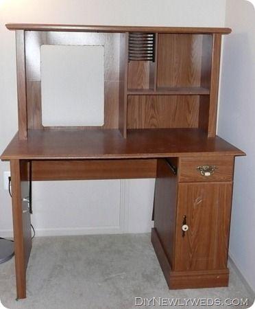 Old Computer Desk Hutch Makeover Diy Furniture