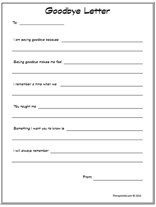 Printables Grief And Loss Worksheets 1000 ideas about grief activities on pinterest therapy goodbye letter preview notebook