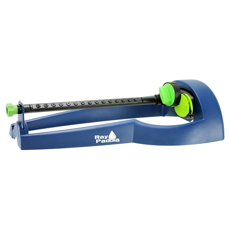 Ray Padula Sweeping Waters 2,800 sq. ft. Oscillating Sprinkler, Blue