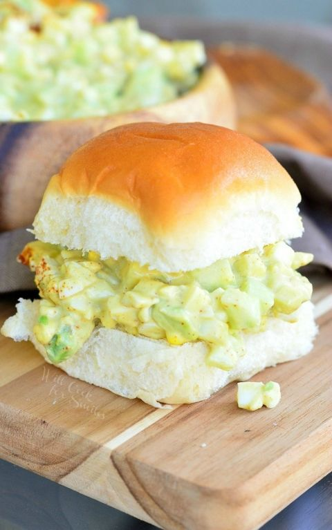 Egg Salad Recipe with avocado and cucumber. Easy to make and delicious!