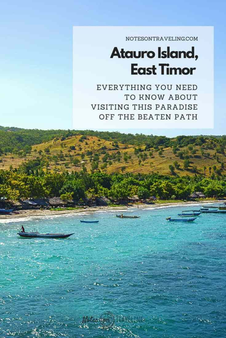 How To Visit Atauro Island, East Timor