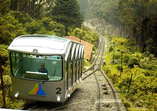Bogota, Colombia and a great French restaurant at the top of a mountain. I took the Funicular (older train) to get to Monserrate. Much better on my nerves than the cable car.
