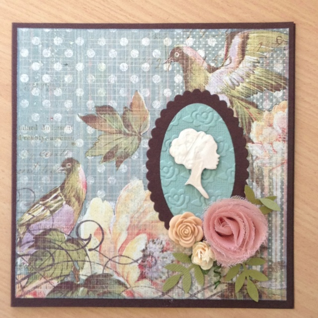 Card made using Kaisercraft's Sweet Nothing's Collection for Kaisercraft Robina Outlet.
