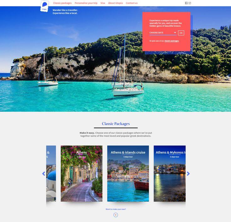 Κατασκευάσαμε την ιστοσελίδα του ταξιδιωτικού γραφείου Utopia την οποία σχεδίασε ο designer Θάνος Ανθόπουλος. Μέσα από ένα εκτενές ερωτηματολόγιο μπορεί κάποιος να βρει τις ιδανικές για εκείνον διακοπές στην Ελλάδα. www.utopia-greece.ae