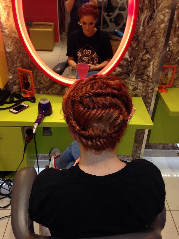 Fishtail with a twist #redhead #colourpop #stuleclub