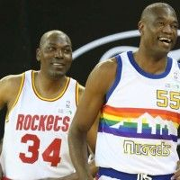 WATCH: Hakeem Olajuwon and Dikembe Mutombo Make Surprise Appearances in NBA Africa Game | SLAMonline