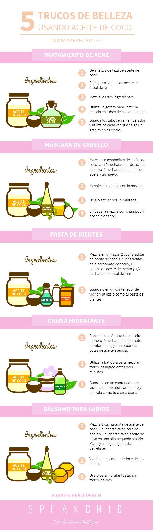 5 trucos de belleza usando aceite de coco <3  belleza, aceite, coco, diy, natural, 100%, saludable, usos, casero, homemade, usos #trucosdebelleza