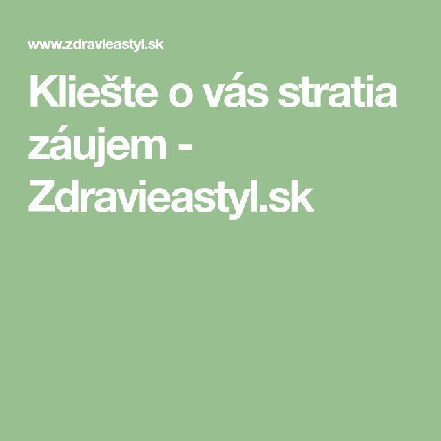 Kliešte o vás stratia záujem - Zdravieastyl.sk