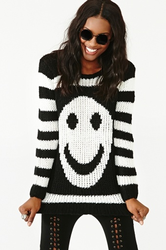 Smiley Stripe Knit