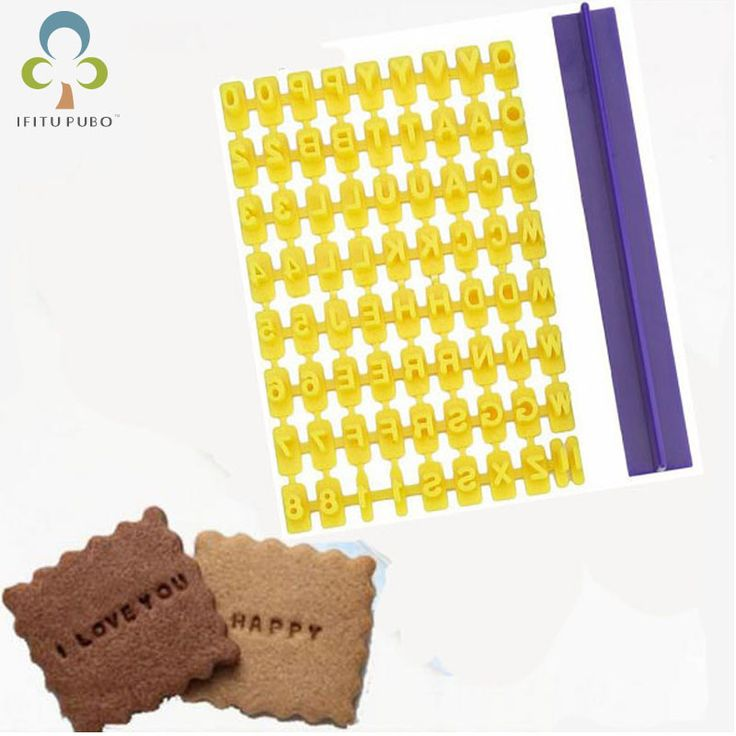 English alphanumeric symbols seal biscuits molds movable type printing cake baking tool set LYQ