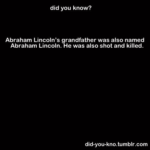 Could the facts about Abraham Lincoln get any freakier???