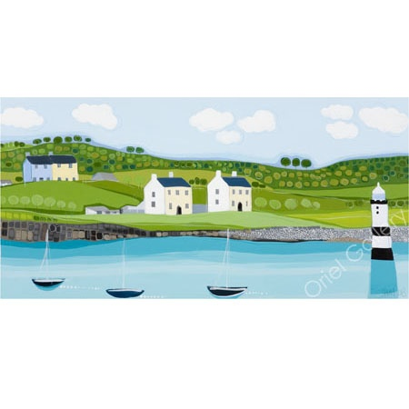 Penmon Houses by Janet Bell