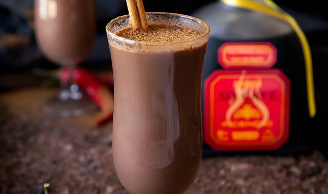 Add @Patron XO Cafe Incendio to your hot chocolate mix using @BromaBakery's Hot Chocolate Del Diablo recipe.