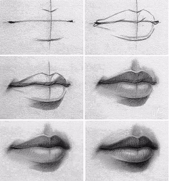 Let's draw these beautiful lips!