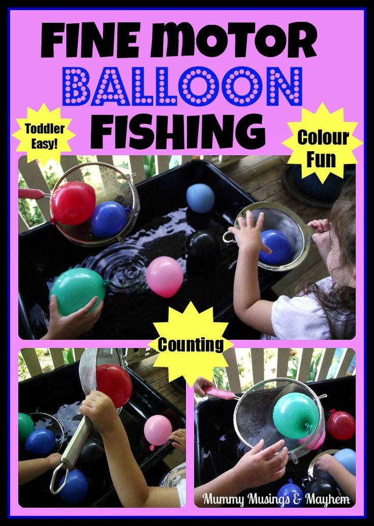 Fine Motor Balloon Fishing!