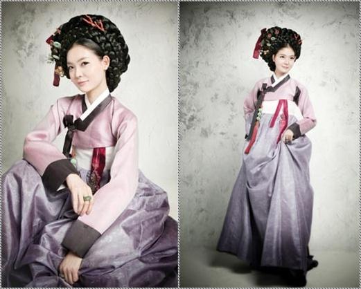 Hanbok w/ kisaeng hair