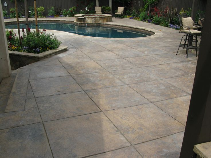 Stamped Concrete | Stamped Concrete Before Restoration    Click To Enlarge