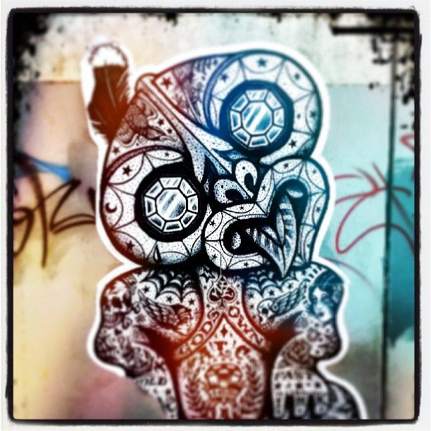 #streetart #graffiti #christchurch #chch #tiki #maori #art | Flickr - Photo Sharing!