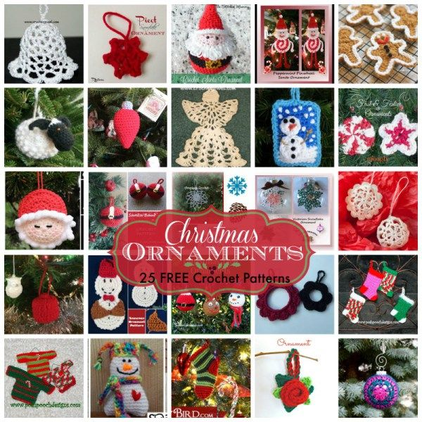 Christmas Ornaments ~ FREE Crochet Patterns. Curated by Rhelena's Crochet Blog