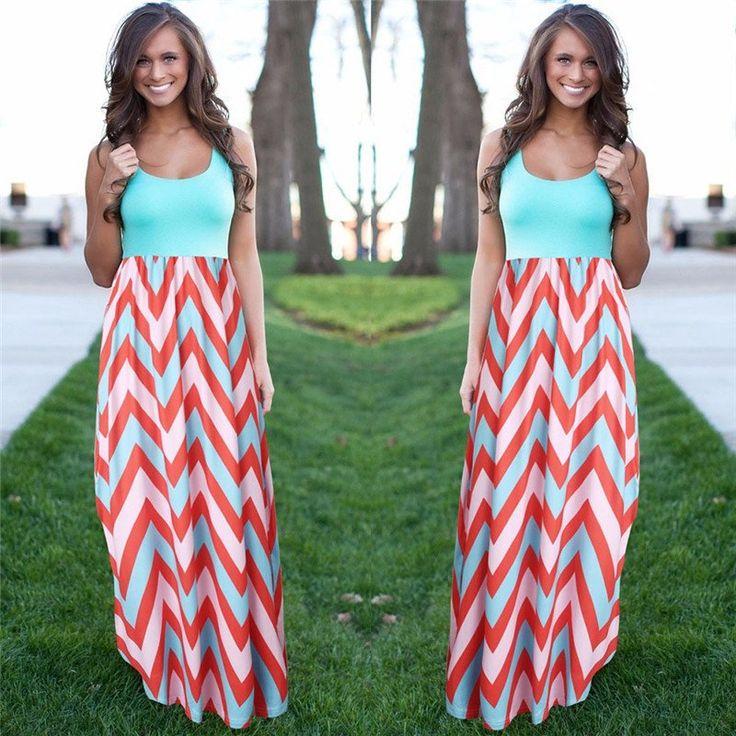Women Summer Beach  Maxi Dress