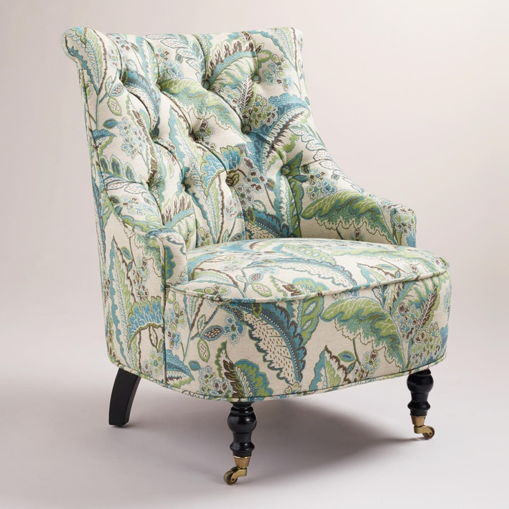 The Fern Floral Erin Chair Is A Modern Classic With A Victorian Inspired  Charm. Itu0027s Crafted Of Hardwood And Upholstered In A Blue And Green Fern  Floral ... Idea