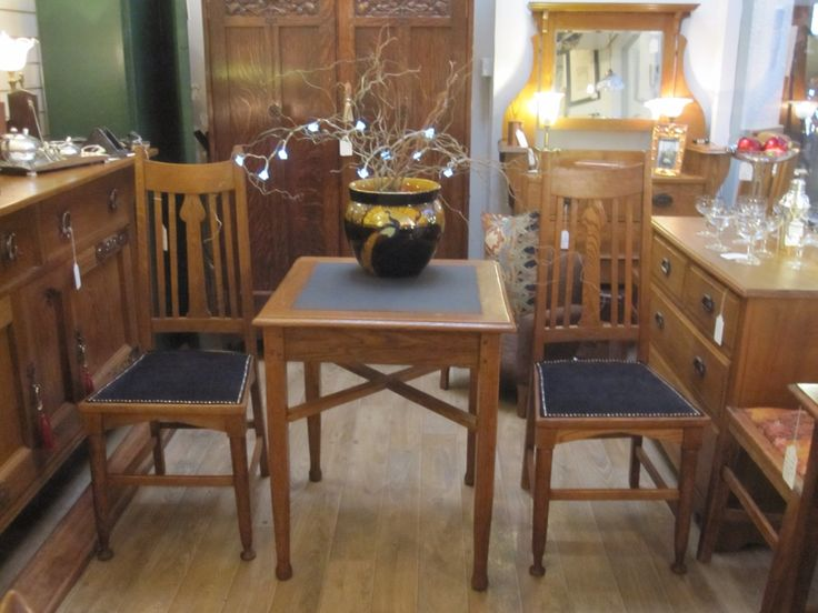 Pair Of Glasgow Style Dining Hall Chairs