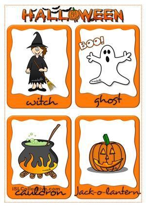 Halloween - flashcards