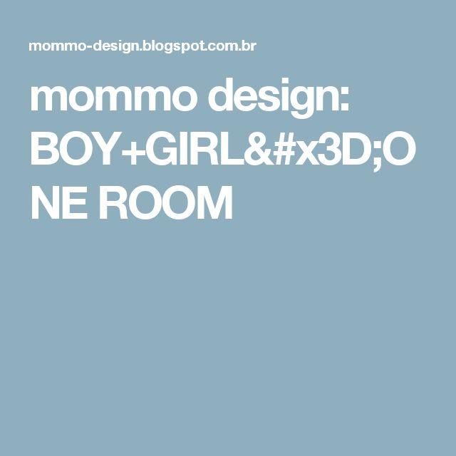 mommo design: BOY+GIRL=ONE ROOM