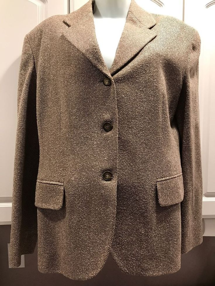*POLO* WOOL Women's Jacket, Button Down, Long Sleeve, FORMAL&CASUAL, Large  | eBay
