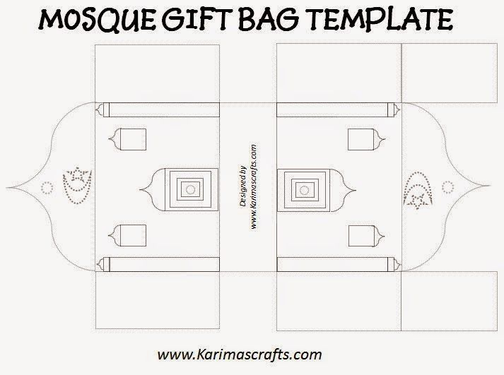 mosque gift bag template ramadan crafts islam muslim