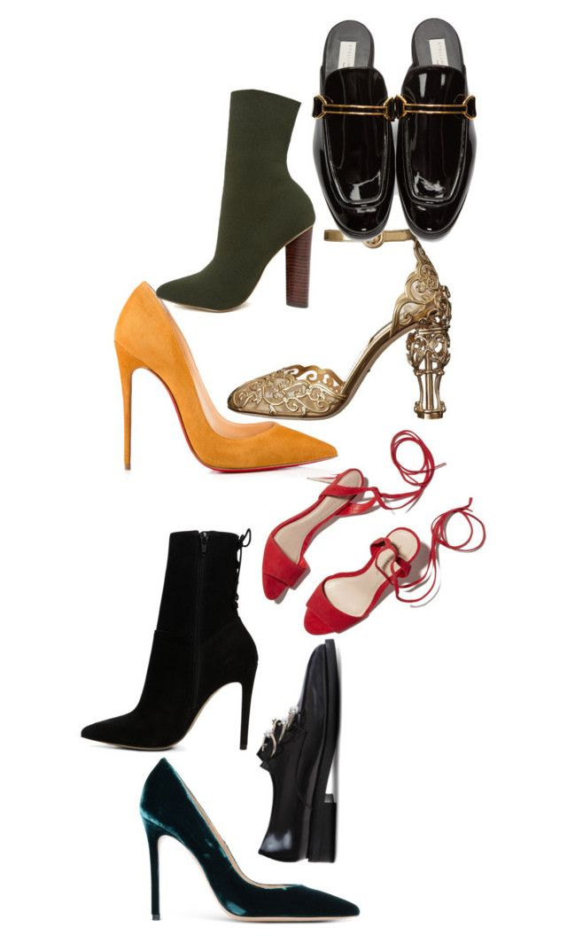 shoes by fashiondaring on Polyvore featuring Dolce&Gabbana, STELLA McCARTNEY, Christian Louboutin, ALDO, Steve Madden, Loeffler Randall, Coliàc Martina Grasselli and Balmain