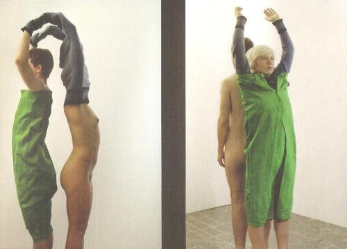 Anna-Nicole Ziesche, States of Mind and Dress, 2002. The fashion film States of Mind and Dress (2002) by Anna-Nicole Ziesche (b. 1972, Hamburg, Germany) opens with a shot of a naked man and woman standing with their backs to each other and with their...