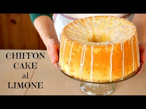 (24) CHIFFON CAKE AL LIMONE Ricetta Facile - Glazed Lemon Chiffon Cake Easy Recipe - YouTube