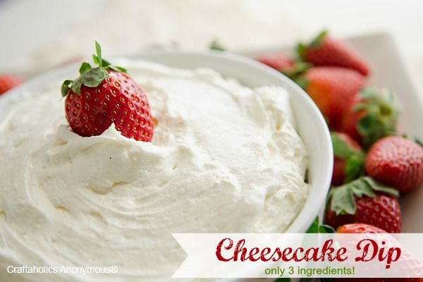 Cheesecake Dip. Best dip ever! only 3 ingredients.