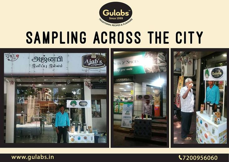 Gulabs sampling our specialties across different outlets in the city.. And like we guessed, people are LOVING it! Grab your favorite #Snacks, #Sharbat, #Condiment now