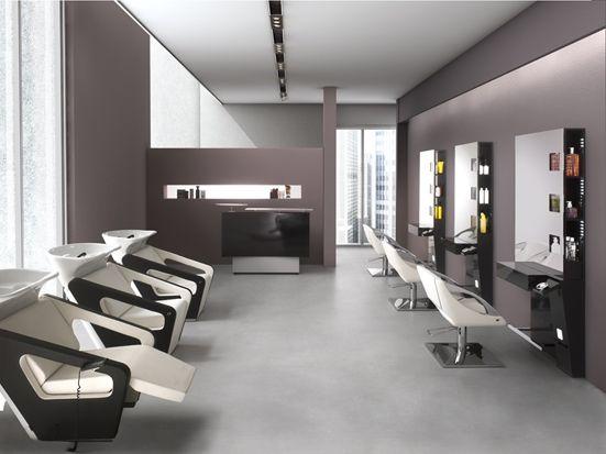 9 best images about sallon de coiffure design on pinterest for Mobilier salon de coiffure