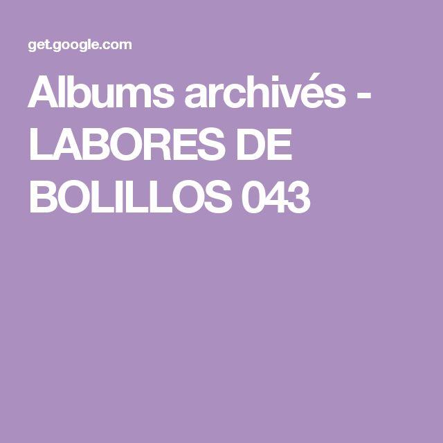 Albums archivés - LABORES DE BOLILLOS 043