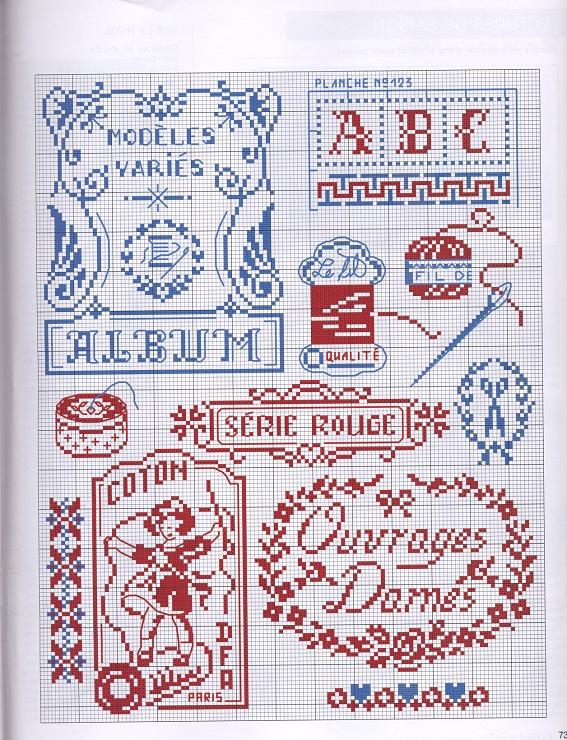Embroidery / Sewing cross stitch chart