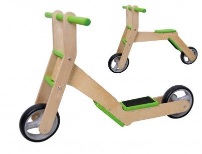 2 in 1 Balance Bike / Scooter - Green #kids #scooter