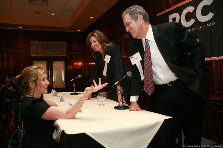 Stef with Ron Magers and Kathy Brock at the PCC Luncheon on September 11, 2013.
