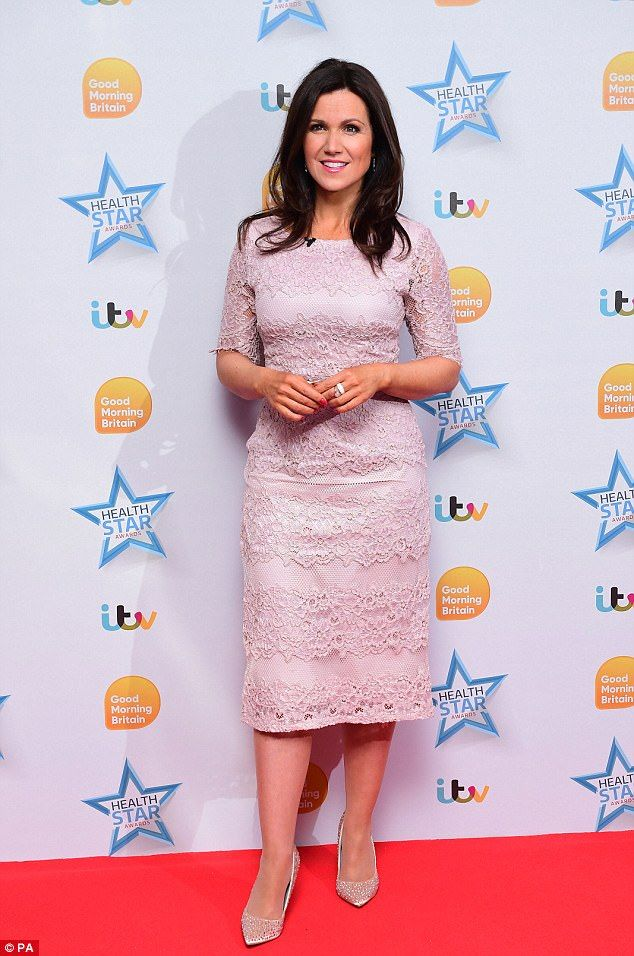 On the red carpet: Susanna Reid joined the Good Morning Britain stars in celebrating the Health Star Awards on Monday, straight after appearing on the show